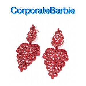 Jewelry - NWOT Red Boho Earrings